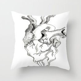 Love Makes Your Heart Go Squiggle  Throw Pillow