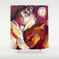 cuddle Shower Curtains featuring Cuddle Time by Travis Clarke