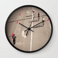 arrow Wall Clocks featuring Arrow by Sébastien BOUVIER