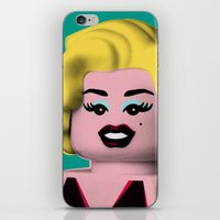 marilyn iPhone & iPod Skins featuring Marilyn by powerpig