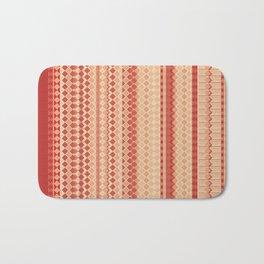 Red & Cream - by Fanitsa Petrou Bath Mat
