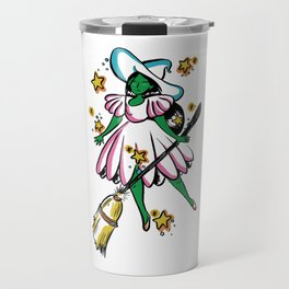 Green Galaxy Witchy Travel Mug