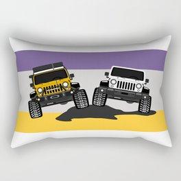 [JEEP COUPLE] yellow+white Rectangular Pillow
