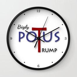 Bigly POTUS Trump Wall Clock
