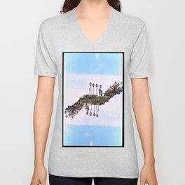 Landscapes c2 (35mm Double Exposure) Unisex V-Neck