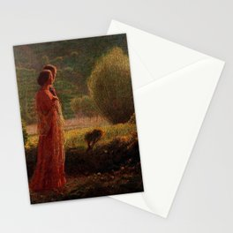 The Love of my Life (L'amore nella vita) by Giuseppe Pellizza da Volpedo Stationery Cards