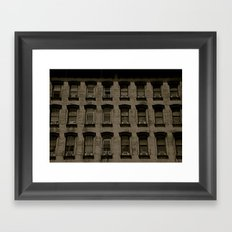 Eyes, or The Windows to the Soul of The City Framed Art Print