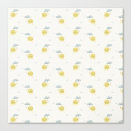 Little Sun white Canvas Print
