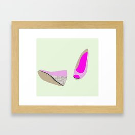 Pink shoe Framed Art Print