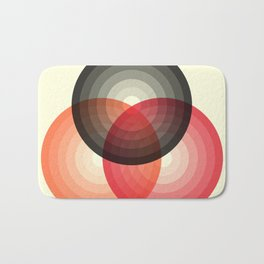 Three colour circles, inspired by Lacouture's Répertoire chromatique Bath Mat