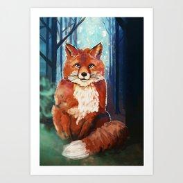 Fox - Forrest - Cute Art Print