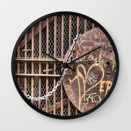 Spray Paint Secret Lover Wall Clock