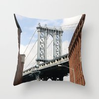 dumbo Throw Pillows featuring DUMBO by Christian Hernandez