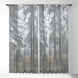 Deep In The Woods Sheer Curtain
