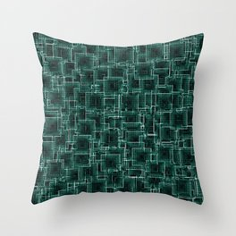 The Maze - Teal Throw Pillow
