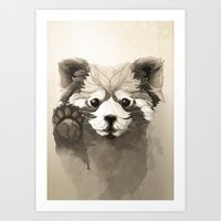 red panda Art Prints featuring Red Panda by Rafapasta