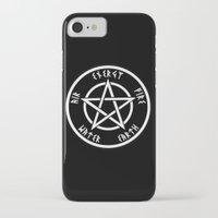 pentagram iPhone & iPod Cases featuring Pentagram by Urban Monk Store