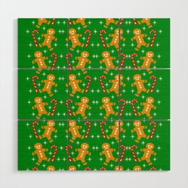 Gingerbread Men and Candy Canes Wood Wall Art