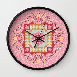 Paisley and Hamsa Wall Clock