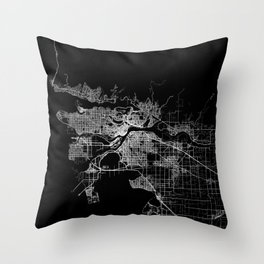 vancouver map canada Throw Pillow