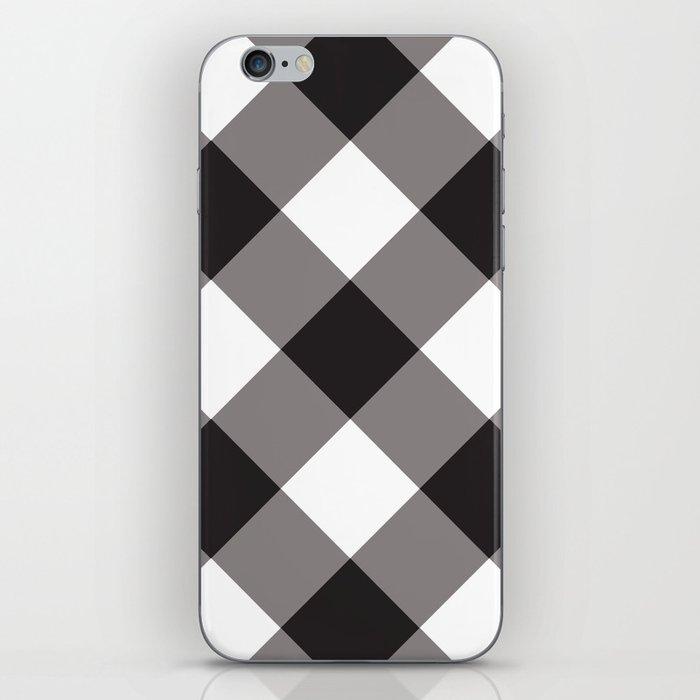 Gingham - Black iPhone Skin