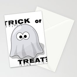 Halloween Trick or Treat Spooky Ghost Stationery Cards