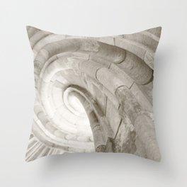Sand stone spiral staircase 4 Throw Pillow