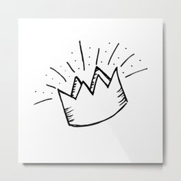 proud crown Metal Print
