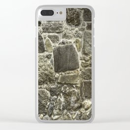 Weathered Stone Wall rustic decor Clear iPhone Case