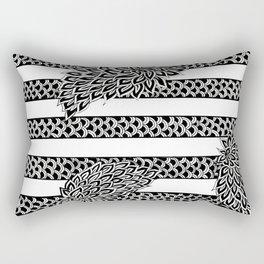 Stripes & Flowers Rectangular Pillow