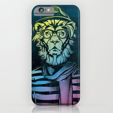 Hipster Lion Black and White iPhone 6s Slim Case