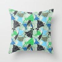 nouveau Throw Pillows featuring Nouveau Nouveau by Jacqueline Maldonado