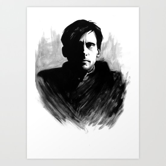 DARK COMEDIANS: Steve Carell Art Print