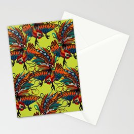 rooster ink chartreuse Stationery Cards