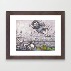 Elbow drop Framed Art Print