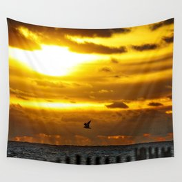 Good Morning Gull Wall Tapestry