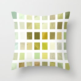 Pale Yellow Poinsettia 1 Abstract Rectangles 2 Throw Pillow