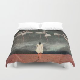 Hanging on to a Dream Duvet Cover