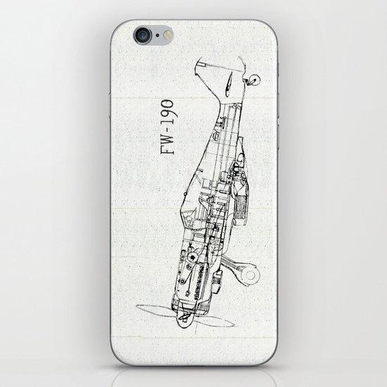 FW - 190 ( B & W) iPhone & iPod Skin