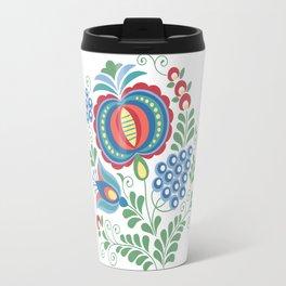Moravian Folk Design Grapes Travel Mug