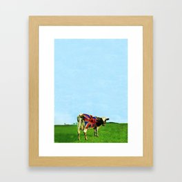 Atom Cow Framed Art Print