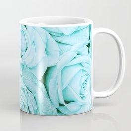 Turquoise roses - flower pattern - Vintage rose Coffee Mug