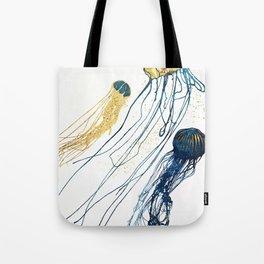Metallic Jellyfish II Tote Bag