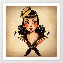 Sailor Jerry Tribute Art Print