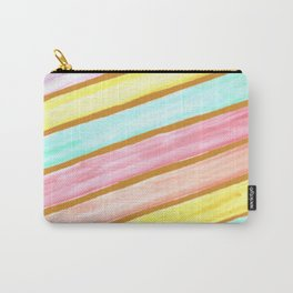 Retro Watercolor Stripes  Carry-All Pouch