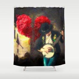 Public Heartbreak Shower Curtain