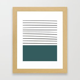 MARINERAS DARKGREEN Framed Art Print