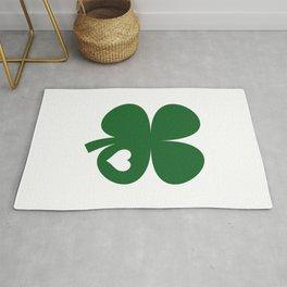 Clover Heart Irish Green St. Patrick's Day Shamrock Rug