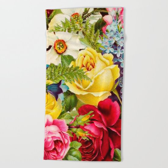 flowers profusion Beach Towel