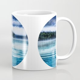 Blue Tranquil Lake Scenery Circle Coffee Mug